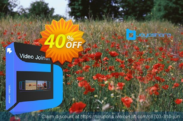 JOYOshare Video Joiner for Mac Family License discount 40% OFF, 2021 Spring discounts