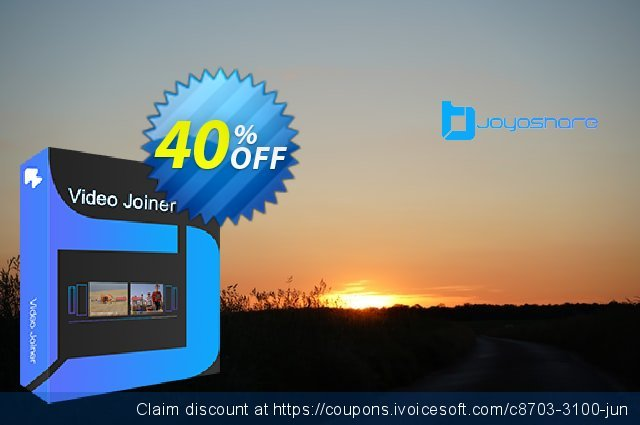 JOYOshare Video Joiner for Mac Unlimited License discount 40% OFF, 2021 Spring promo