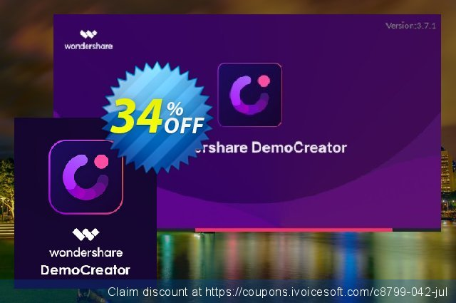 Wondershare DemoCreator for MAC Lifetime discount 34% OFF, 2021 Spring promo