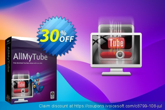 Wondershare AllMyTube for Windows discount 30% OFF, 2019 April Fools' Day sales