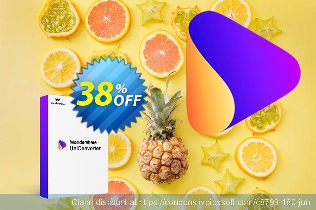 Wondershare Video Converter Pro for Mac discount 30% OFF, 2019 January offering sales