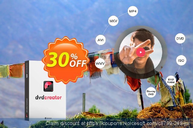 Wondershare DVD Creator for Windows discount 30% OFF, 2020 Halloween offering sales