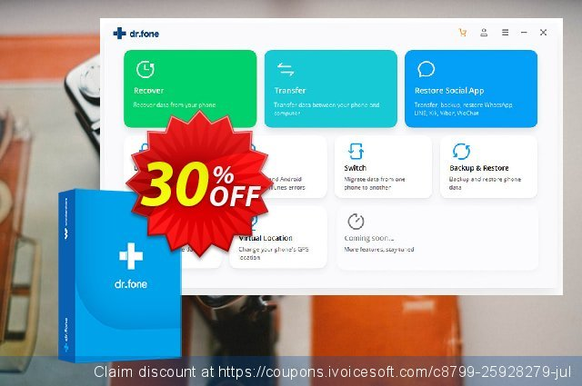 dr.fone (Mac) - Backup & Restore (Android) discount 30% OFF, 2020 New Year's Weekend sales