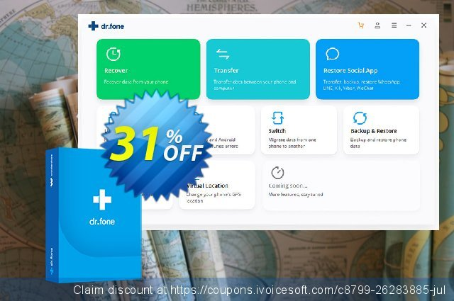 dr.fone (Mac) - Erase (Android) discount 30% OFF, 2020 Happy New Year offer