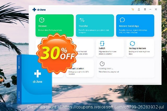 dr.fone (Mac) - Toolkit (Android) discount 30% OFF, 2020 April Fools' Day offering sales