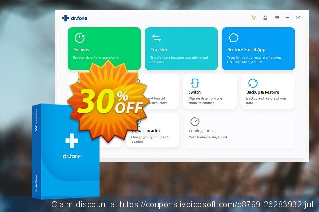 dr.fone (Mac) - Toolkit (Android) discount 30% OFF, 2021 Women Day offering sales