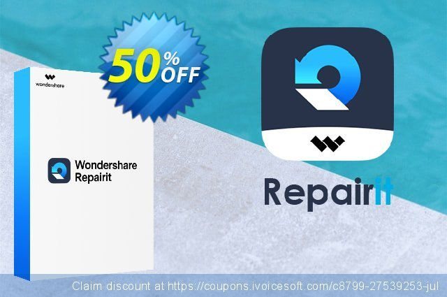 Wondershare Repairit Tool discount 50% OFF, 2021 National Women month offering discount