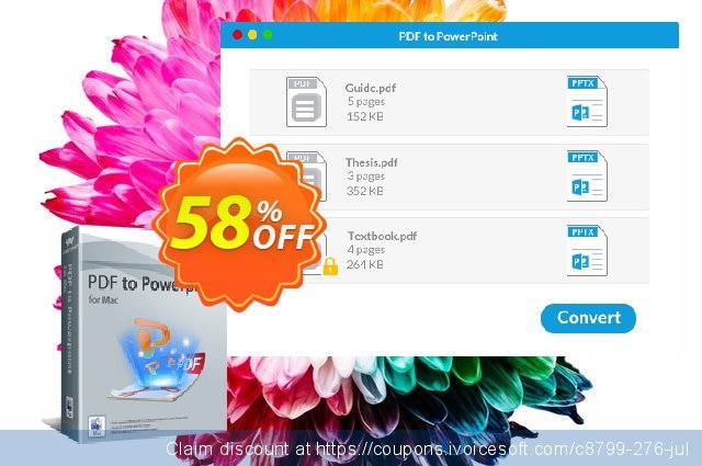Wondershare PDF to PowerPoint for Mac discount 30% OFF, 2019 New Year's Day offering sales