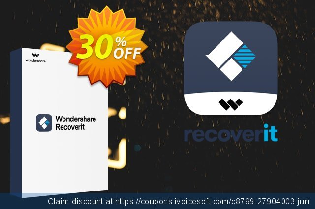 Wondershare Recoverit for Mac (1 Month License) discount 30% OFF, 2021 Columbus Day promotions. 30% OFF Wondershare Recoverit for Mac (1 Month License), verified