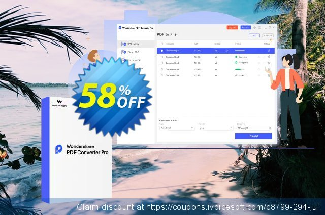Wondershare PDF Converter Pro for Windows discount 58% OFF, 2020 Back to School season deals