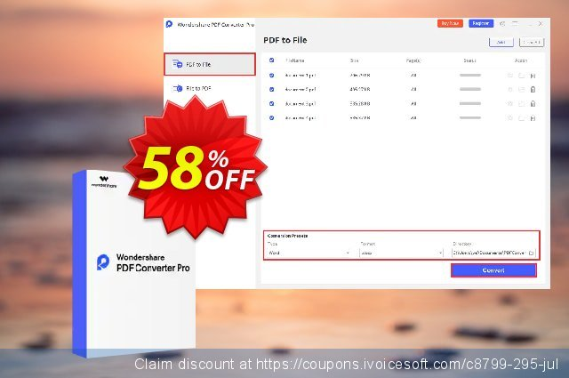 Wondershare PDF Converter PRO for Mac discount 58% OFF, 2020 Exclusive Student deals offer