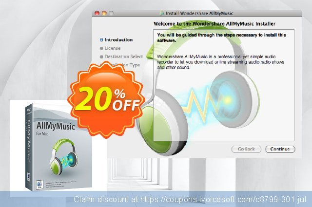 Wondershare AllMyMusic for Mac discount 30% OFF, 2020 Spring deals
