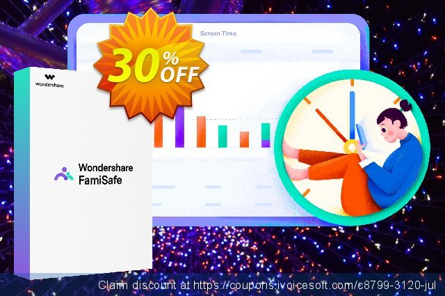 Wondershare FamiSafe (Annual Plan) discount 30% OFF, 2021 July 4th offer. 30% OFF Wondershare FamiSafe, verified