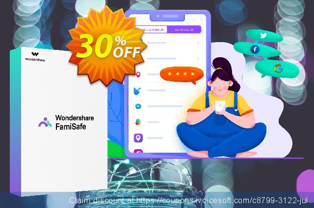 Wondershare FamiSafe (Monthly Plan) discount 30% OFF, 2021 Spring discounts
