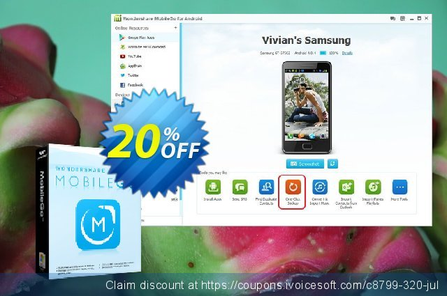 Wondershare MobileGo discount 30% OFF, 2019 Halloween offering sales