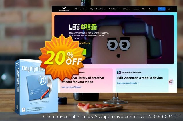 Wondershare TidyMyMusic for Mac discount 30% OFF, 2019 Xmas promo sales