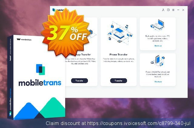Wondershare MobileTrans for Mac discount 37% OFF, 2021 Women Day offering discount