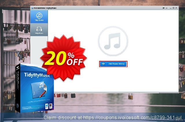 Wondershare Tidymymusic discount 30% OFF, 2019 Fourth of July offering sales