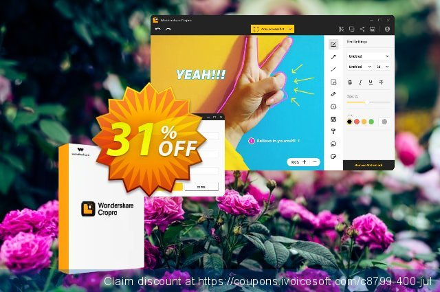 Wondershare Cropro Professional for MAC discount 31% OFF, 2021 Working Day offering sales