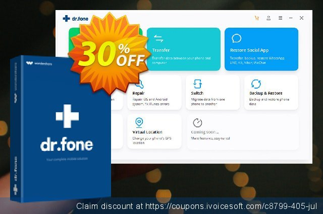 dr.fone - iOS Toolkit discount 30% OFF, 2020 American Independence Day offering sales