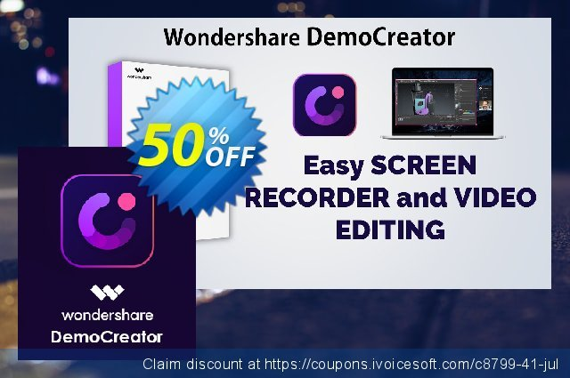 Wondershare DemoCreator discount 51% OFF, 2021 National Women month offering sales