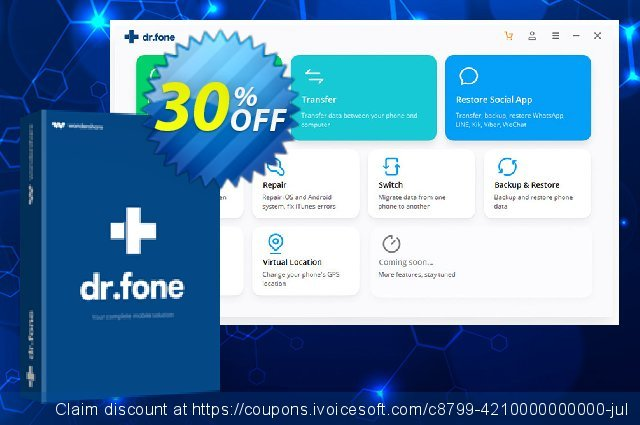 dr.fone - Recover (iOS) discount 30% OFF, 2019 Happy New Year offering sales