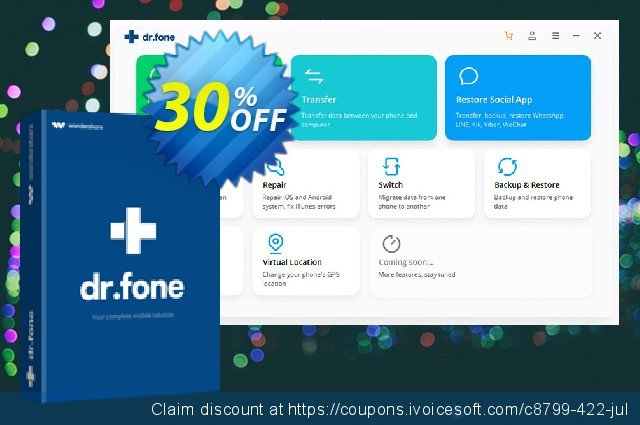 dr.fone - Transfer (iOS) discount 30% OFF, 2019 Student deals offering sales