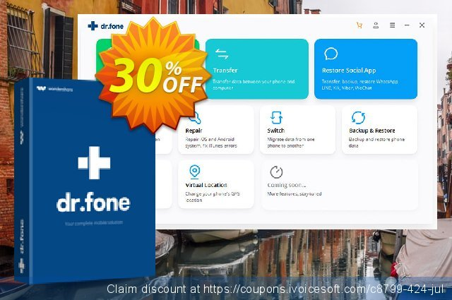dr.fone - Backup & Restore (iOS) discount 30% OFF, 2021 Islamic New Year discounts. Dr.fone all site promotion-30% off
