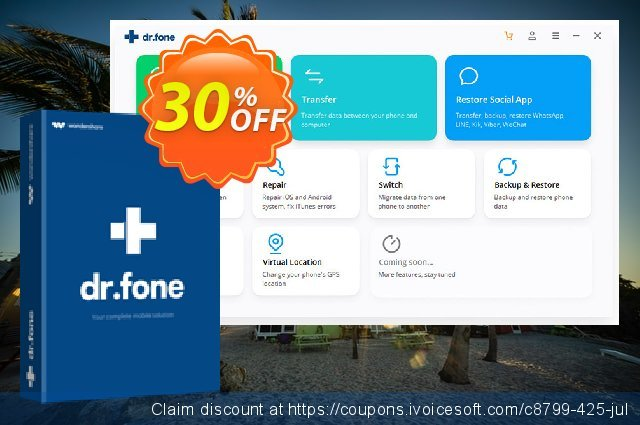 dr.fone - Erase (iOS) discount 30% OFF, 2019 January offering sales
