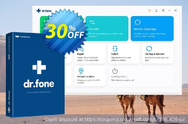 dr.fone (Mac) - Recover (iOS) discount 30% OFF, 2019 Summer discounts