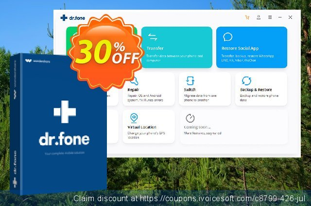 dr.fone (Mac) - Recover (iOS) discount 30% OFF, 2021 Earth Hour offering sales