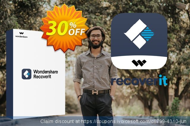 Wondershare Recoverit Lifetime License discount 30% OFF, 2021 Grandparents Day offering sales. 30% OFF Recoverit Lifetime License, verified