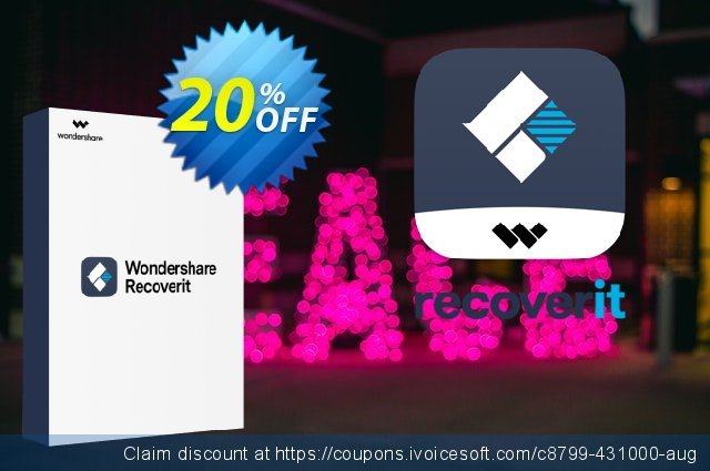 Wondershare Recoverit (1 Month License) discount 20% OFF, 2021 National Coffee Day offering sales. 20% OFF Wondershare Recoverit (1 Month License), verified