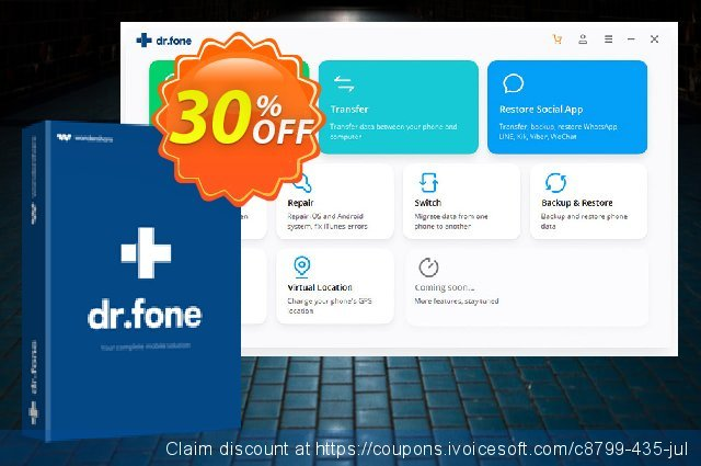 dr.fone - iOS Unlock discount 30% OFF, 2019 Mother's Day offering deals