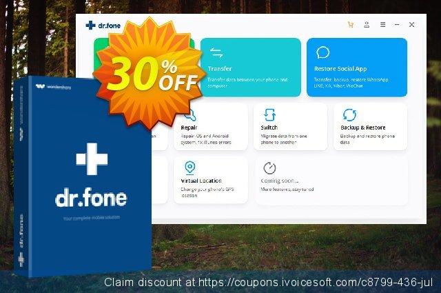 dr.fone - Restore Social App discount 30% OFF, 2020 Fourth of July offering sales