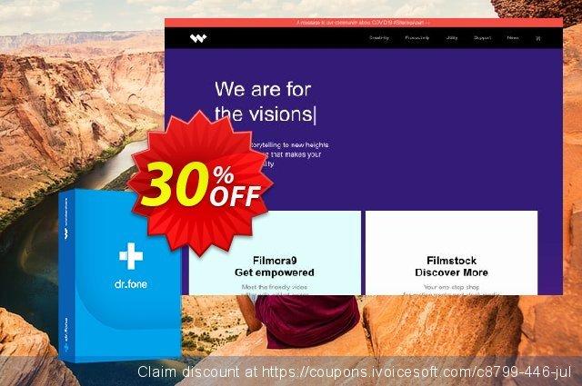 dr.fone - Restore Social App (Mac) discount 30% OFF, 2019 University Student offer deals