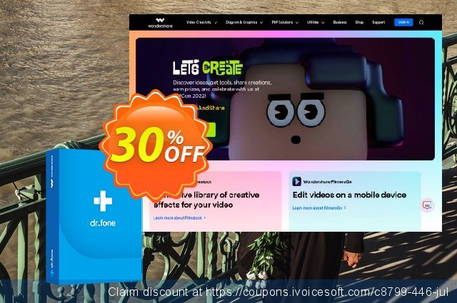 dr.fone - Restore Social App (Mac) discount 30% OFF, 2021 Earth Hour offering sales