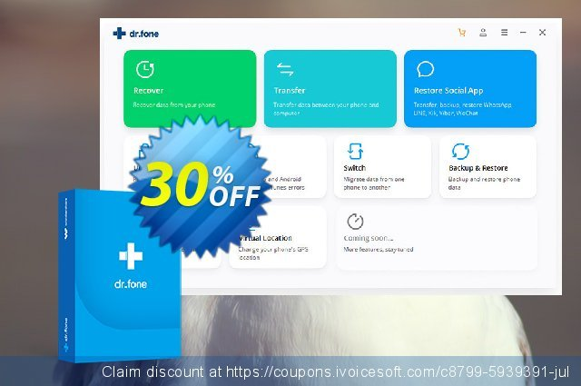 dr.fone Switch for business (iOS & Android) discount 30% OFF, 2020 April Fools Day discount