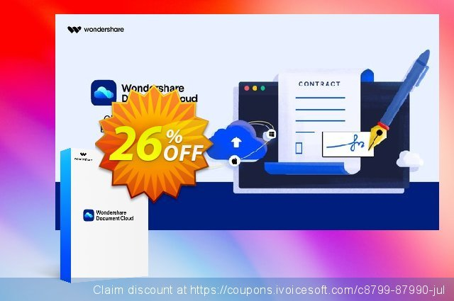 Wondershare Document Cloud Quarterly discount 26% OFF, 2021 Library Lovers Month promo sales