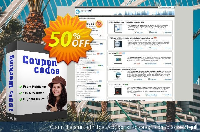 Cucusoft DVD to iPhone Converter discount 50% OFF, 2019 Thanksgiving Day offering sales