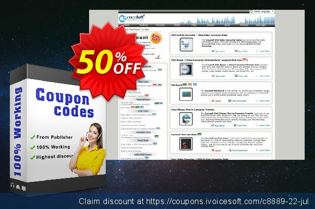 Cucusoft DVD to iPhone Converter Suite discount 50% OFF, 2020 Summer offering sales