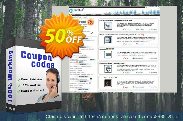 Cucusoft iPad Video Converter + DVD to iPad Converter Suite discount 50% OFF, 2020 Back to School season offer