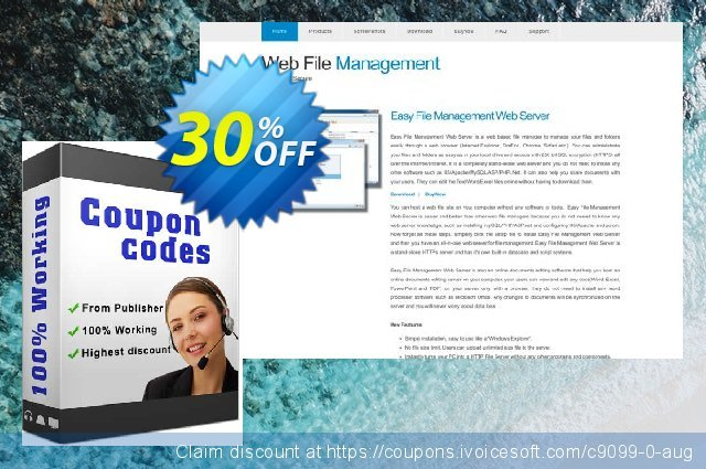 Easy File Sharing Web Server Secure Edition discount 30% OFF, 2018 Christmas offering sales