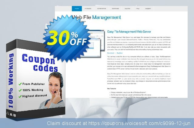 Easy File Management Web Server Corporate Edition 可怕的 优惠券 软件截图