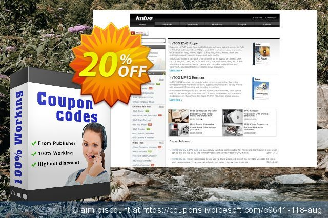 ImTOO MPEG to DVD Converter for Mac discount 20% OFF, 2020 January offering discount