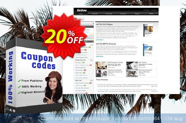 ImTOO XviD Converter 6 discount 20% OFF, 2020 July 4th promo sales