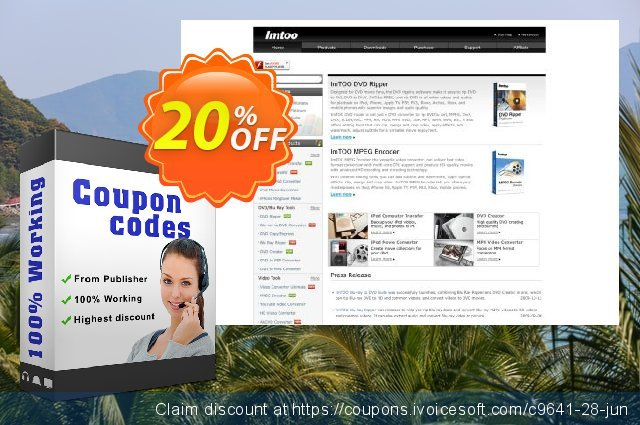 ImTOO DVD to DivX Converter 6 discount 20% OFF, 2020 Back to School offer promotions