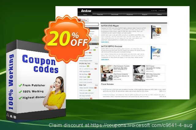 ImTOO Audio Encoder 6 discount 20% OFF, 2020 July 4th offering sales