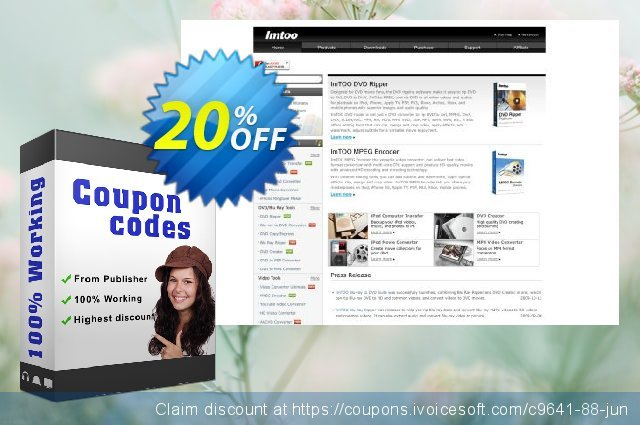 ImTOO DVD Ripper Ultimate 7 for Mac discount 20% OFF, 2020 Summer sales