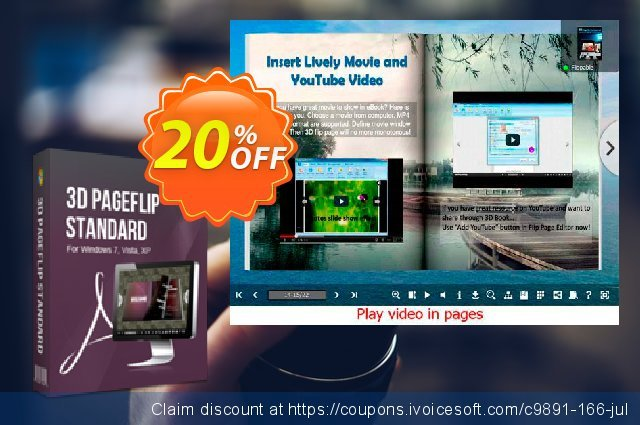 3DPageFlip for Album discount 20% OFF, 2020 Back to School offer sales